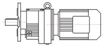 Flange-mounted Helical gear units with solid shaft