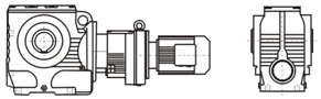 Combination of S & R Series reducer
